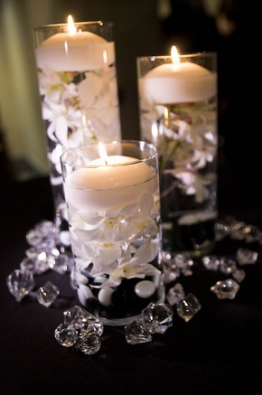 Beautiful Cylinder Floating Candle Vase Set Of 3